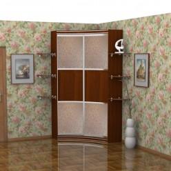 Радиусный шкаф-купе Стелла