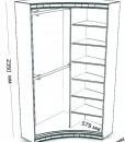 Радиусный шкаф-купе Стелла размеры