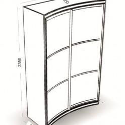 Радиусный шкаф-купе Пандора размеры