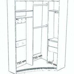 Радиусный шкаф-купе Рондо