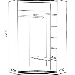 Радиусный шкаф-купе Сандра