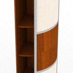 Радиусный шкаф-купе Сандра, угловой элемент