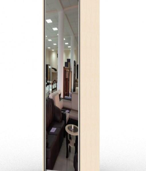 стандартный шкаф-купе с одной зеркальной дверью