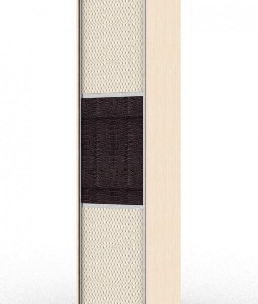 Стандартный шкаф-купе с одной дверью с комбинированным фасадом